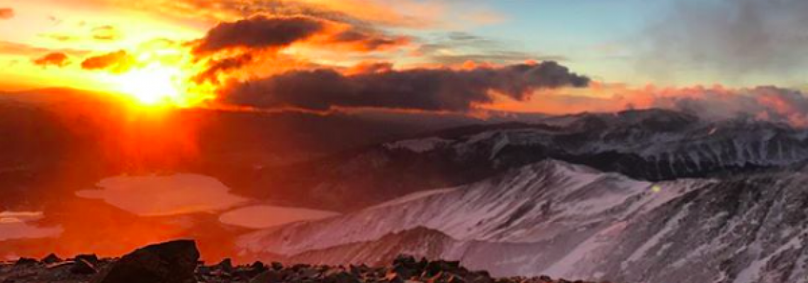 Sunrise from the highest mountain in Colorado.  All photo's courtesy Andrew Hamilton.