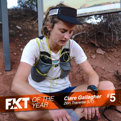 Clare Gallagher - FKT on Trans Zion (UT)