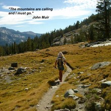 Peter Bakwin on the JMT in 2003