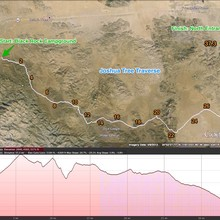 Joshua Tree Traverse route map by Christof Teuscher