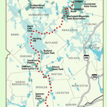 Midstate Trail map