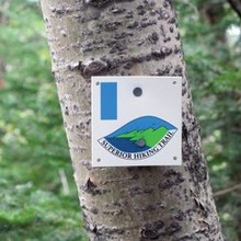 Superior Hiking Trail marker