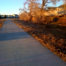 At its northeastern end, in Green Valley Ranch, the High Line Canal is little more than a furrow next to a neighborhood bike path.