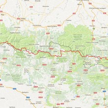 Haute Route Pyrenees map from doingmiles.com