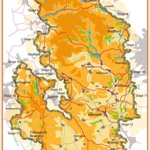 Peak District Boundary Walk map